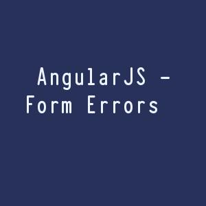 AnjularJs form errors