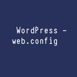 WordPress web.config file