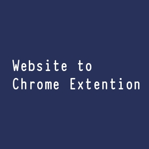 website to chrome extension