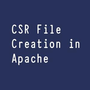 csr file creation in apache
